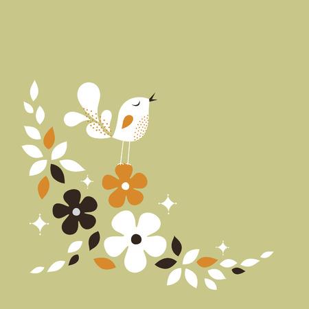 sweet bird card design Stock Vector - 6240958