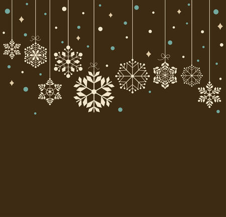 Vector set of snowflakes background Stock Vector - 6240961
