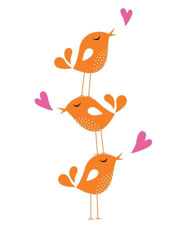 Tarjeta de amor de ave  Foto de archivo - 6249490