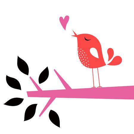 Tarjeta de amor de ave Foto de archivo - 6259563