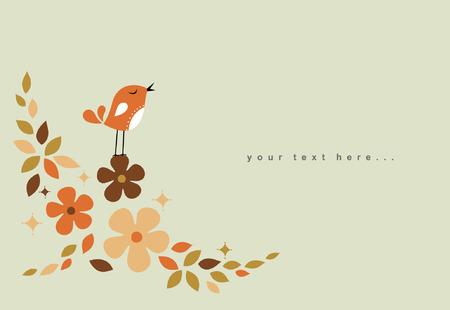 sweet bird card design Stock Vector - 6278518