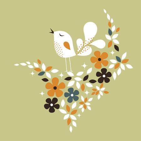 sweet bird card design Stock Vector - 6278515