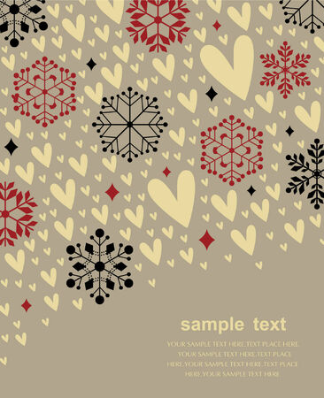 Vector set of snowflakes background Vector