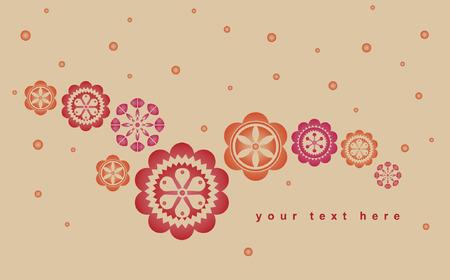 vector flower background design Vector