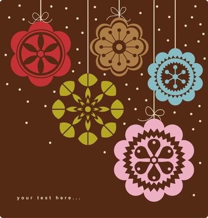 christmas ball background design