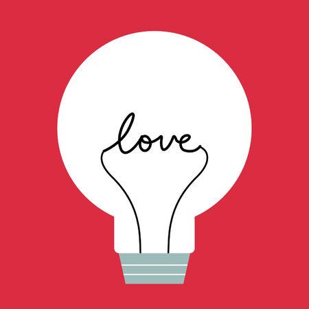 lighten: one bulb with love inside
