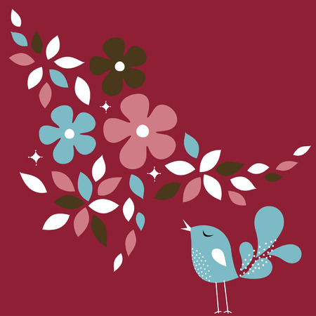 sweet bird card design Stock Vector - 6312479