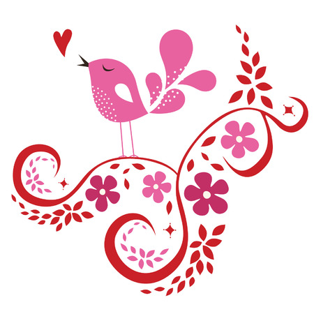bird love card Stock Vector - 6312480