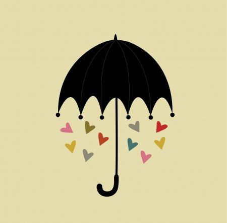 愛のデザインの傘