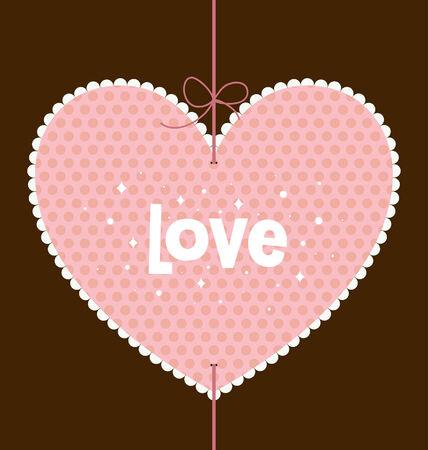 valentine's day card design Stock Vector - 6331468