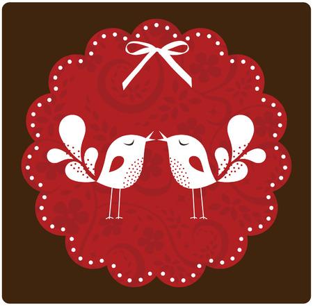 Tarjeta de amor de ave Foto de archivo - 6331473