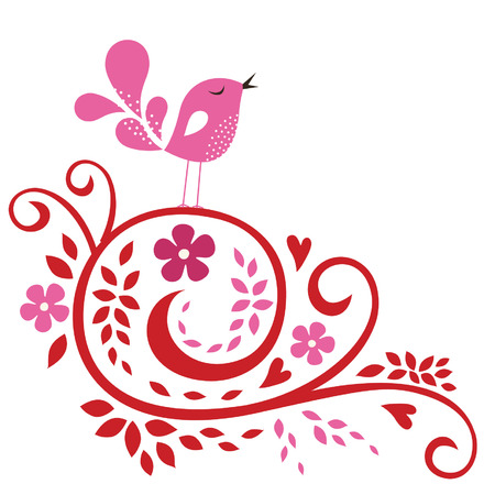 bird love card Stock Vector - 6344369