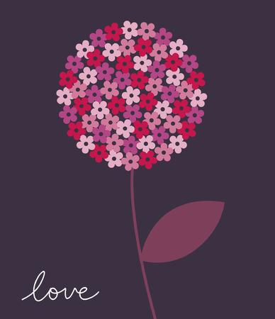 Ilustración de vector de flor Foto de archivo - 6344375