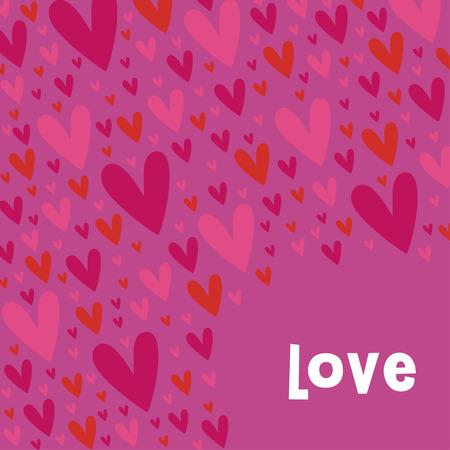 Diseño de fondo de corazones de vector  Foto de archivo - 6344376