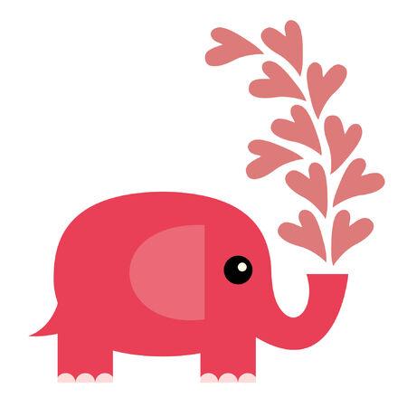 Elephant in love Vector