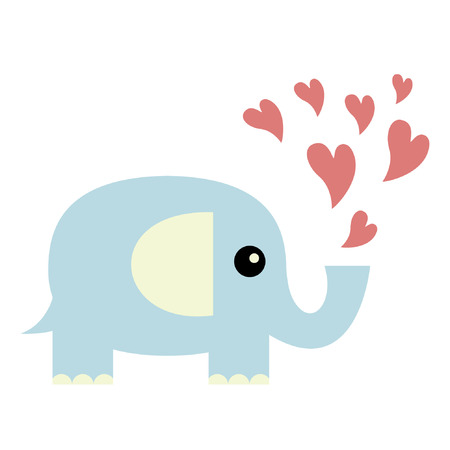 Elephant in love Stock Vector - 6457834