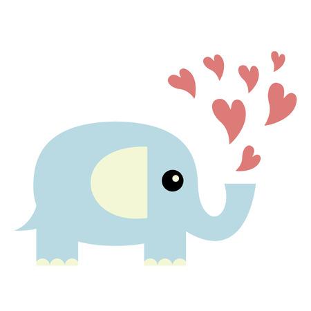 Elephant in love Stock Vector - 6457834