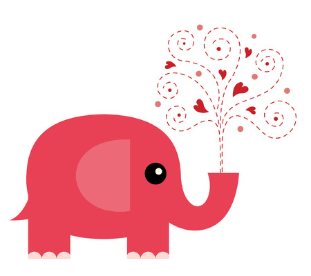 Elephant in love Stock Vector - 6579443