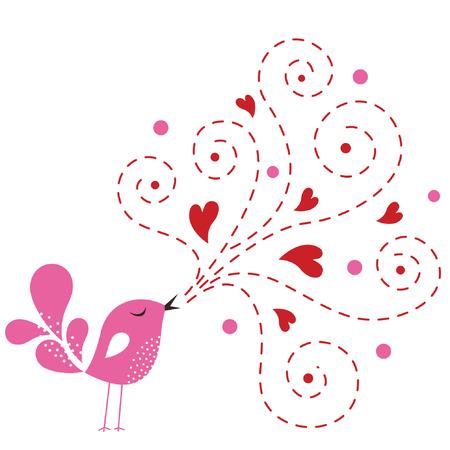 Tarjeta de amor de ave  Foto de archivo - 6549206