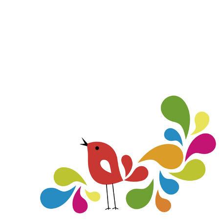sweet bird card design Stock Vector - 6648526