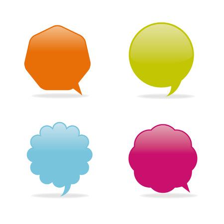 Dialog clouds. Stock Vector - 6648527