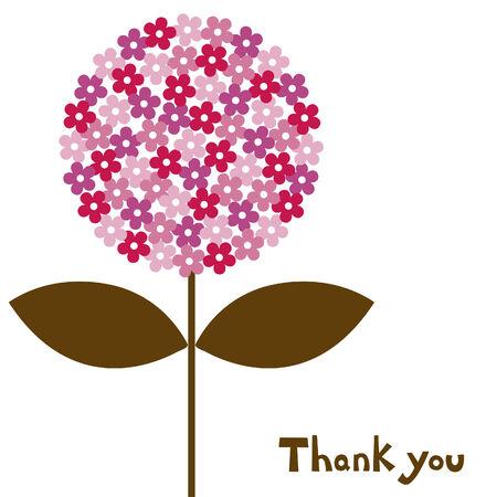 thanks you: flower  illustration