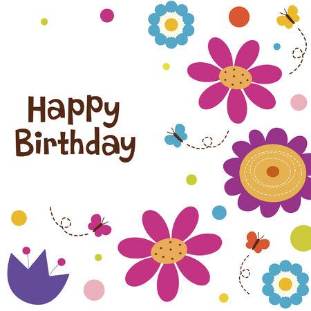 butterflies and flowers: flower card design