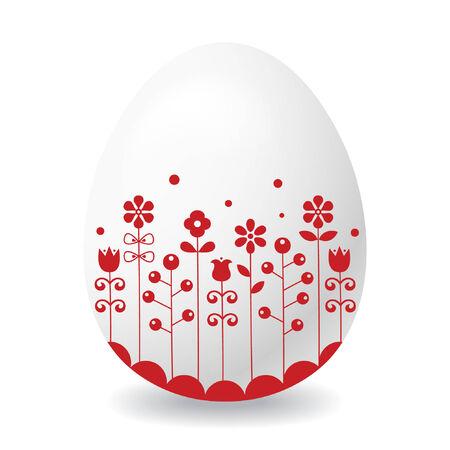 Easter egg on white background. Stock Vector - 6707212