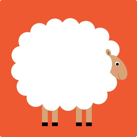 cartoon present: Sheep Lamb  Illustration Illustration