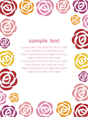 red  yellow: flower background Illustration