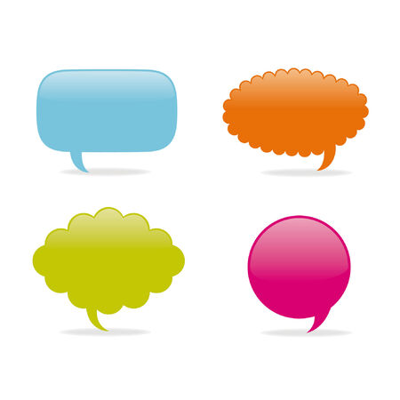 Dialog clouds. vector illustration Stock Vector - 6738080