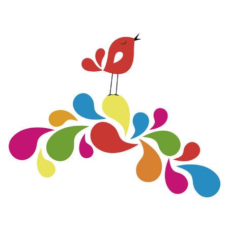 uccello dolce card design Vettoriali