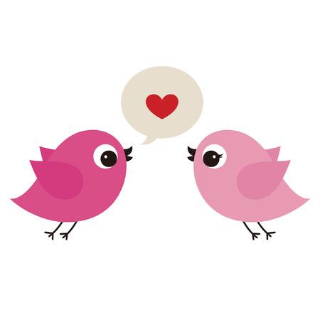 birds in love Stock Vector - 6766580