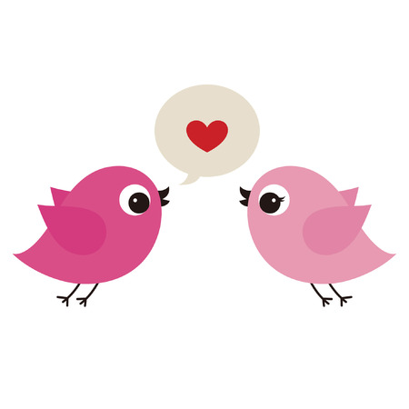birds in love Stock Vector - 6766580