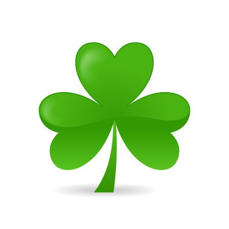 irland:   Irish Shamrock ideal f�r St. Patricks Tag isolated over white background Illustration