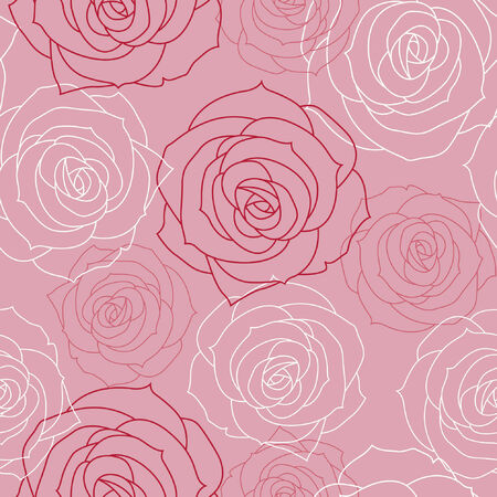 Beautiful floral seamless background Vector