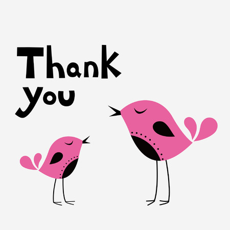 simple thank you card with bird Stock Vector - 6785300