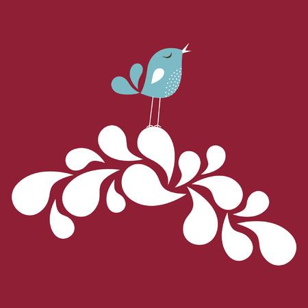 sweet bird card design Stock Vector - 6774668