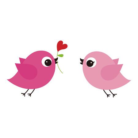 birds with love Stock Vector - 6774662