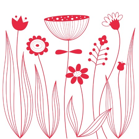hand drawn flower: Beautiful floral background