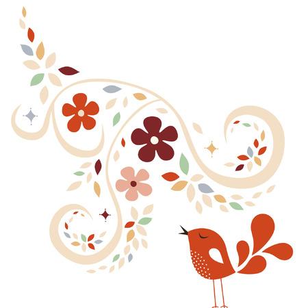 sweet bird card design Stock Vector - 6766583