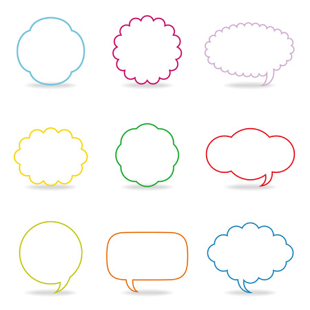 red balloons: Dialog clouds. illustration