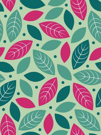 Seamless leaf background design Vector