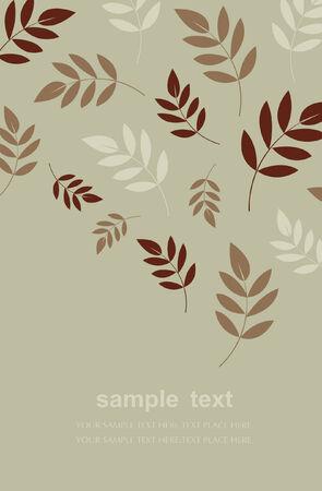 leaf background design Vector