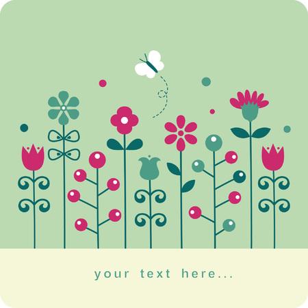 Floral card ,  illustration  Vector