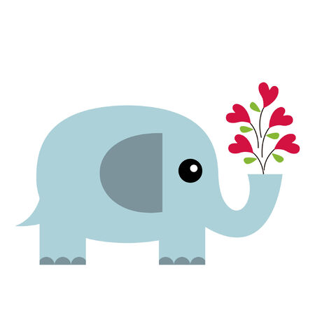Elephant in love Stock Vector - 7071055