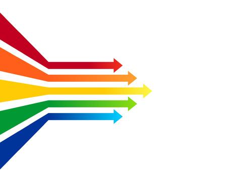 financial leadership: Flechas de colores