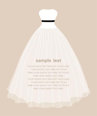 wedding dress Stock Vector - 7107630