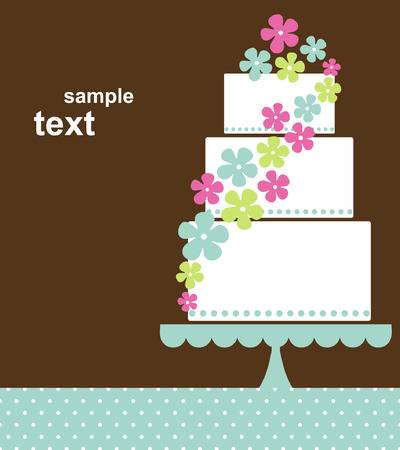 wedding cake:  wedding card design