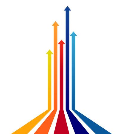 Gekleurde pijlen